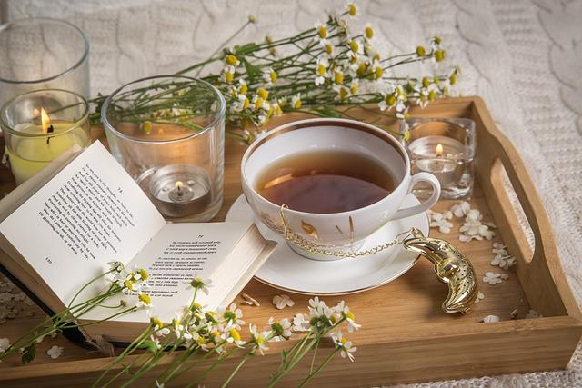 カモミール、ハーブティー、お茶
