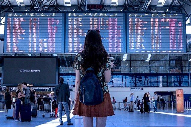 旅行、空港